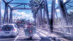 Jembatan yang menghubungkan salam tempel